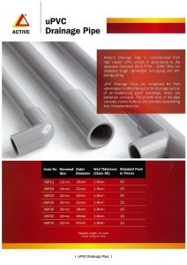 Active Aircon PVC Water Piping